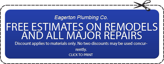 Plumbing Free Estimate Coupon for Remodels and Major Repair