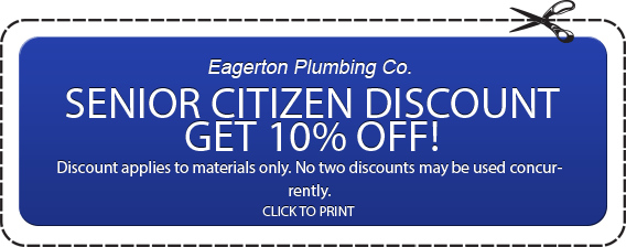Plumbing Senior Citizen 10% Off Discount Coupon